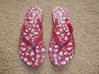 Coach Abbigail Red Flip Flop Sandals Size 5/6 EUC