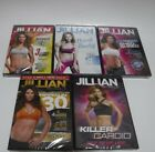 LOT 0F 5 JILLIAN MICHAELS WORKOUT EXERCISE DVD  RIPPED IN 30 DAYS HARD BODY