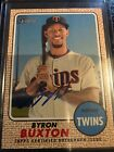 2017 Topps Heritage Real One Blue Ink Autograph Byron Buxton