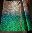Iridescent Pearl Green to Silver Nylon 2 WAY Stretch Mesh OMBRE Sequin Fabric