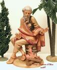 FONTANINI DEPOSE ITALY RETIRED 12 ETHAN BY CAMPFIRE NATIVITY VILLAGE 52989 MINT