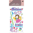 Sticko Toothfairy Toothbrush Tooth NEW Scrapbooking Foiled Stickers Fairy Hearts