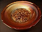 JEANNETTE IRIS AND HERRINGBONE IRIDESCENT DEPRESSION GLASS SOUP BOWL
