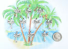 NEW 10 TIBET SILVER DOUBLE SIDED PALM TREE CHARMS PENDANTS CUTE