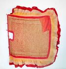 Antique Indian Ethnic Textile Work Jute Hand Stitch Without Stick Hand Fan Kn6