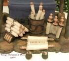 FONTANINI ITALY 5 RETIRED 6PC WRITING NATIVITY VILLAGE ACCESSORY SET 51173 MIB