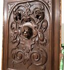 Architectural gothic medieval figure panel Antique french wood salvaged carving