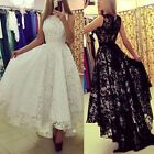 Formal Party Wedding Evening Women Lace Long Dress Cocktail Bridesmaid Prom Gown