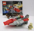 Lego 7134 Star Wars A Wing Fighter w Pilot  Mechanic Vintage Set w Manual