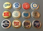 12 plastic lined beer bottle caps unused Michelob Pabst Old Milwaukee Miller