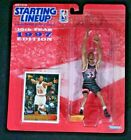ALONZO MOURNING 1997 Edition NBA Starting Lineup Figurine & Topps Card. New.