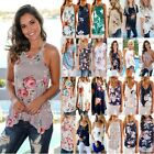 Women Ladies Floral T Shirt Tops Summer Boho Beach Loose Tank Top Vest Blouse US