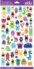 Sticko Crafts Scrapbook Stickers Mini Monsters Eyeball Horns Heads Colorful NEW