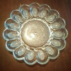 Beautiful Indiana Glass Veronique Beaded Hobnail Deviled Egg Plate Tray Easter