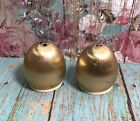 Small Vintage Napier Brushed Gold Colored Salt And Pepper Shakers