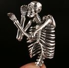 Precious Pure 925 Silver Pendant Fashion Limited Edition Skeleton Exorcism old