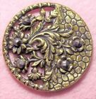 LARGE, Victorian brass CUT STEEL BUTTON, 1.5