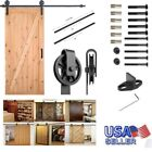 6.6 FT European Modern Stainless Wood Sliding Barn Door Hardware Set
