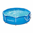 Summer Waves 8 Metal Frame Above Ground Family Swimming Pool Set w Filter Pump