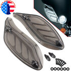 Smoke Adjustable Fairing Wind Air Deflector For Harley Electra Street Classic
