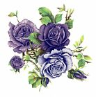 Purple Lavender Rose Cluster Flowers Select A Size Waterslide Ceramic Decals Bx