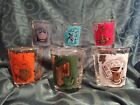 SET OF 6 MID CENTURY PFIZER PHARMACY GLASSES TUMBLERS IN MULTIPLE COLORS