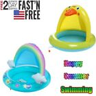 Inflatable Baby Kids Swimming Pool Garden Fun Play Kid Swim Pools With Sunshade