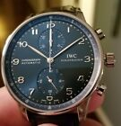 IWC Portuguese Automatic Chronograph Blue Dial Men's Watch Model IW371491
