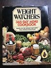 Weight Watchers 365 Day Menu Cookbook Hardcover Vintage