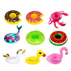 9 Pcs Inflatable Drink Holder Set Unicorn Flamingo Donut Floats for Pool Party