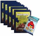ANGRY BIRDS SPACE STICKER COLLECTION - 5 PACKS + BONUS PACK OF TRADING CARDS