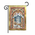 Breeze Decor Peace on Earth Doves and Nativity 2 Sided Vertical Flag