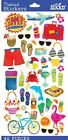 Sticko Summer Scrapbooking Crafts Stickers Vacation Icons Planner Travel NEW