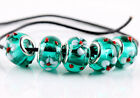 5pcs Murano Lampwork Glass Charm Big Hole Beads Fit European Charm Bracelet
