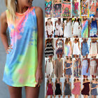 Women Summer Boho Short Mini Tunic Dress Beach Bikini Cover Up Swimwear Sundress
