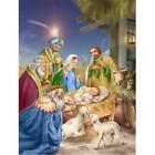 Carolines Treasures APH6897CHF Christmas Nativity with Wise Men Flag Canvas H