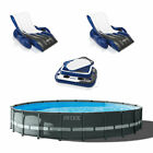Intex 24 x 52 Ultra XTR Pool Set w 2 Inflatable Loungers  Floating Cooler