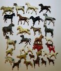 Marx and unbranded Vintage Plastic Animal toys Unmarked Farm dogs Horses Rare