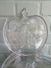 Orchard Crystal Hazel Atlas Glass Apple Snack Plates Six