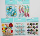 U Pick Jolees Stickers Waves Repeat Flip Flop Cabochons Fun at the Beach