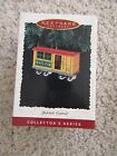 1996 Hallmark Ornament Yuletide Central Train All Metal 3rd in series Mail Car