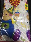 """Baby Bear- Blue 1st Birthday Amscan Table Cloth 6 Pack 54""""x102 """" NEW"""