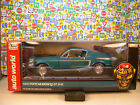 TURQUOISE 1968 FORD MUSTANG GT 2+2 AUTO WORLD 118 SCALE DIECAST METAL MODEL CAR