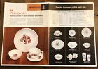 Fire King Primrose Floral Dinnerware Dishes Advertising Page Poster Sign Flier