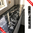 Black Marble Contact Paper Adhesive Granite Look Vinyl Countertop Kitchen Shelf