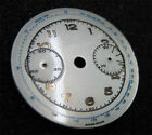 Vintage B&M Landeron Chronograph silver and gold watch dial