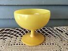 Vintage Hazel Atlas Yellow Primary Color Footed Sherbet Dessert Dish