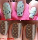 NEW Logo LV Vuitton Nail Polish Strips Stickers U CHOOSE STYLE LASER CUT