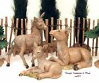 FONTANINI DEPOSE ITALY 3PC 5 DONKEY FAMILY MAMA  CALVES NATIVITY VILLAGE NIB