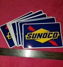 2 SUNOCO auto car racing NASCAR Decals 2012  FREE SHIPPING gas TWO STICKERS NEW